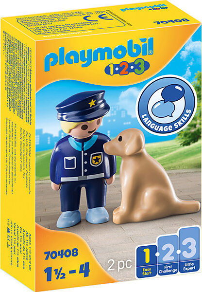 20200807141500 playmobil 123 police officer with dog